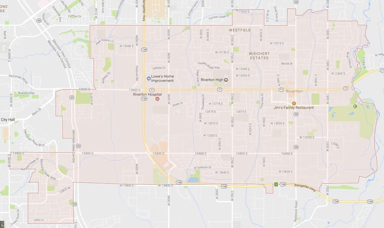 Va Hospital Utah Map.Riverton City Map Utah Realty