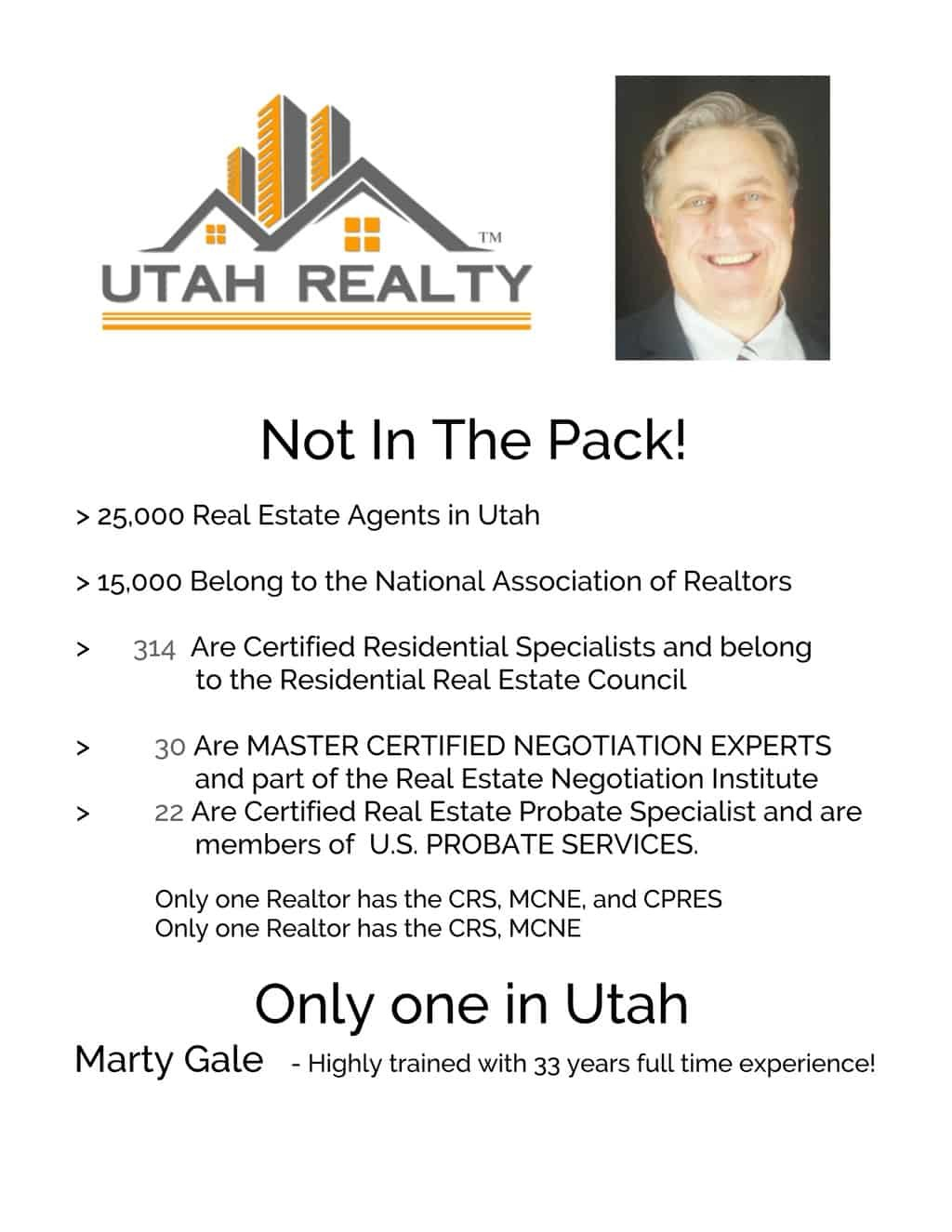 Top of the Pack – not in the pack # 1 Utah Real Estate Agent