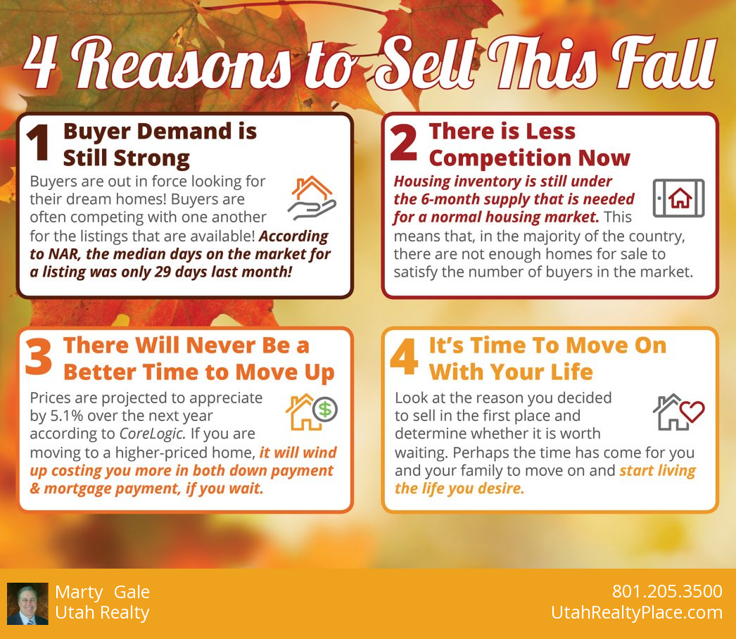 Four Reasons to Sell This Fall With Utah Realty
