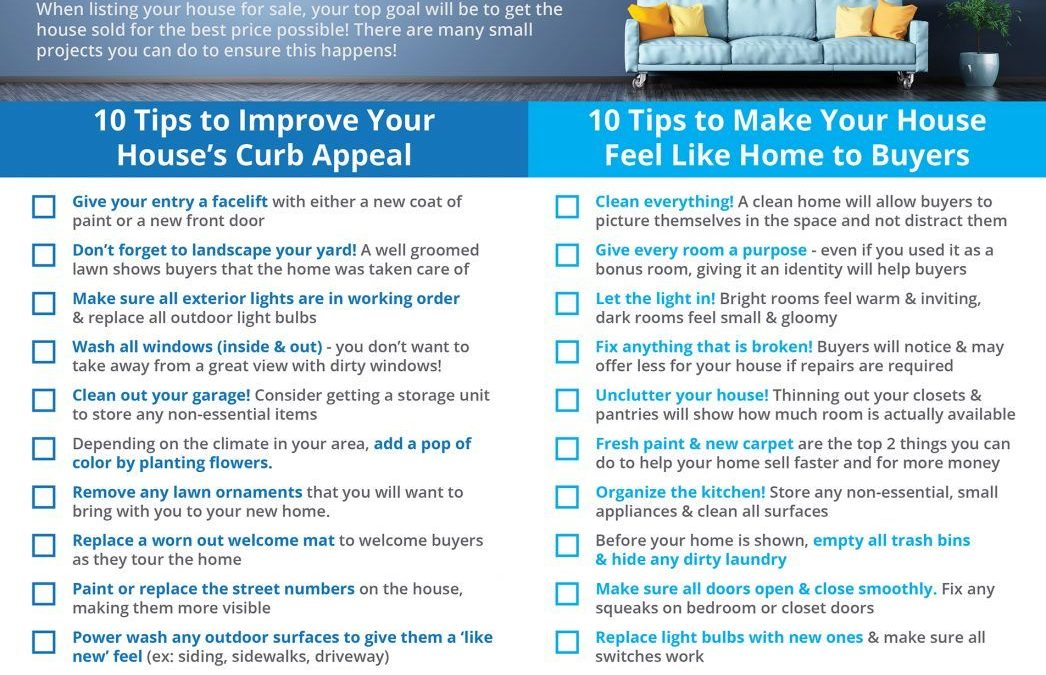 Preparing your home to sell