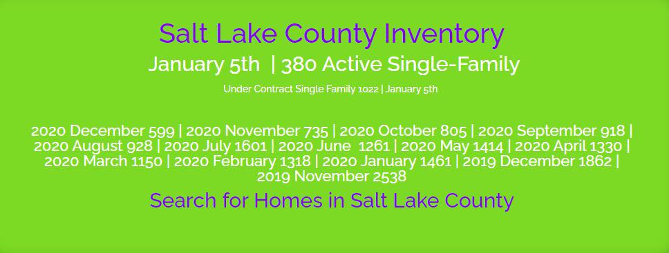 January Single Family Inventory Salt Lake County (Active)